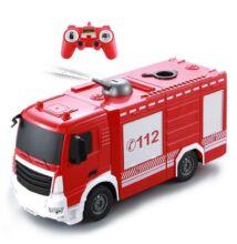 Vízspriccelős akkumulátoros távirányítós tűzoltóautó 30cm-es E572-003