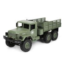 Élethű katonai távirányítós teherautó 35cm WPL B16 zöld