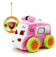 Plüss elemes távirányítós autó kicsiknek pink