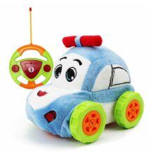 Plüss elemes távirányítós autó kicsiknek kék