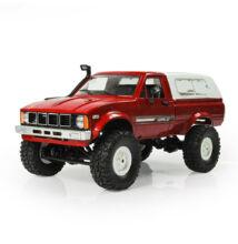 Valósághű Toyota Pickup távirányítós autó 10km/h WPL C24 piros