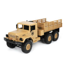 WPL-B16 4WD Military Truck távirányítós teherautó 1/16 10km/h homokszínű