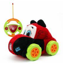 Plüss elemes távirányítós autó kicsiknek fekete