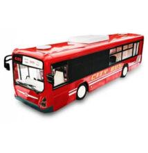 Távirányítós busz nyitható ajtóval hanggal lámpával 33cm E635-003 piros