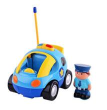 Mesefigurás elemes távirányítós autó kicsiknek - rendőrös cartoon car