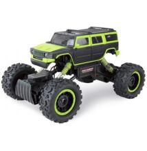 Nagyméretű távirányítós sziklamászó világítással Rock Crawler 4WD Hummer zöld