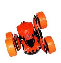Átfordulós kaszkadőr távirányítós autó 15cm Atom Max narancs