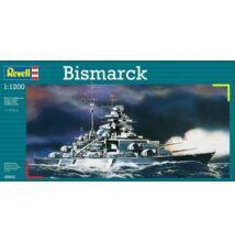 Revell 1:1200 Bismarck hajó makett