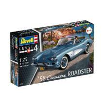 Revell 1:25 '58 Corvette Roadster makett autó
