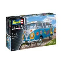 Revell 1:24 VW T1 Samba Bus Flower Power autó makett