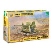 Zvezda 1:35 British Anti-Tank Gun QF 6-PDR MK-II