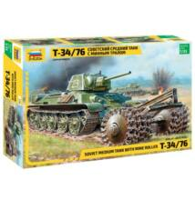 Zvezda 1:35 Soviet Medium tank T-34/76 with Minde Roller