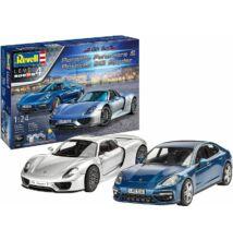 Revell 1:24 Porsche Panamera & 918 Spyder Gift SET autó makett