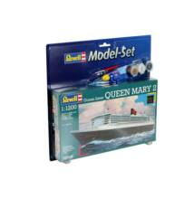 Revell 1:1200 Ocean Liner Queen Mary 2 SET hajó makett