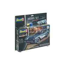 Revell 1:25 '58 Corvette Roadster SET autó makett