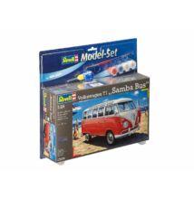 Revell 1:24 Volkswagen T1 Samba Bus SET autó makett