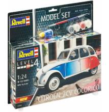 Revell 1:24 Citroen 2CV Cocorico SET autó makett