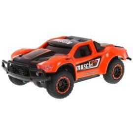 Mini rally kül- és beltéri távirányítós autó 15cm Muscle fekete-narancs