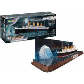Revell 1:600 RMS Titanic + 3D Puzzle (Jéghegy) Easy-Click SET hajó makett