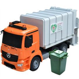 Óriás akkumulátoros távirányítós kukásautó 41cm E560-003