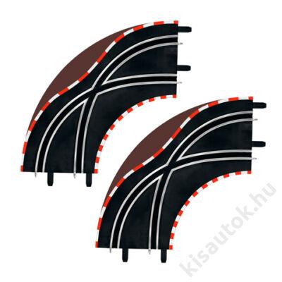 Carrera Go! / DIGITAL 143: Sínváltó kanyar pályaelem (2 db)