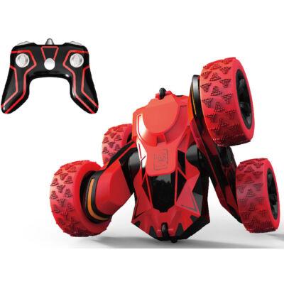 Atom Max átfordulós távirányítós kaszkadőrautó - 15cm-es piros