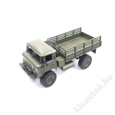 Valósághű Gaz-66 távirányítós teherautó 1/16 10km/h WPL B24 zöld