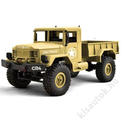 Funtek CR4 4WD Military Truck távirányítós teherautó 1/16 10km/h homokszínű