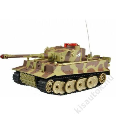 Uni-Fun Tiger 1 távirányítós tank infra lövéssel 1/24 terepszínű