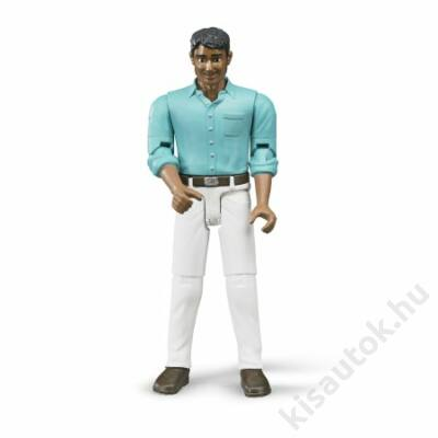 Bruder Bworld Enyhén barna bőrű férfi munkás fehér nadrágban