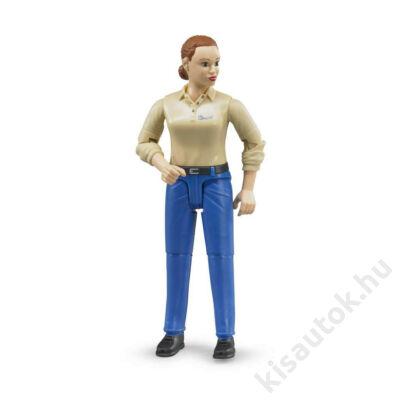 Bruder Bworld világos bőrű nő kék nadrágban