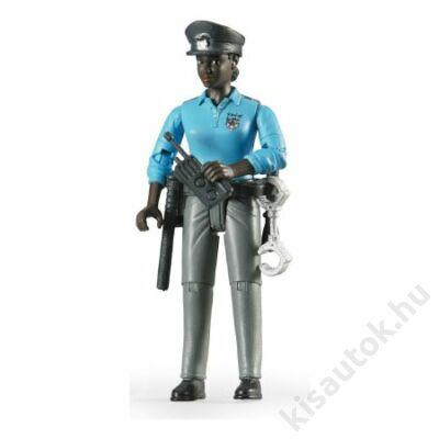 Bruder Bworld Sötét bőrű rendőrnő tartozékokkal