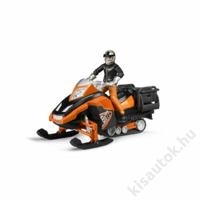 Bruder Bworld Snowmobil vezetővel és felszereléssel