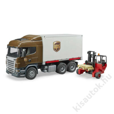 Bruder Scania R-Series UPS teherautó targoncával