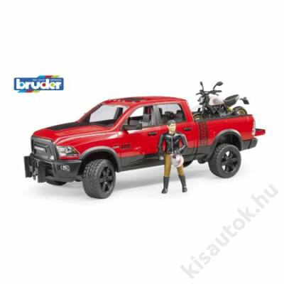 Bruder RAM 2500 Pick up Ducati motorral és motorossal
