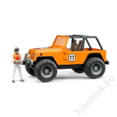 Bruder Jeep Cross terepjáró (narancs) sofőrrel