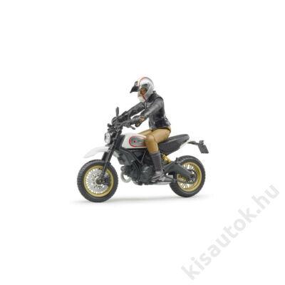 Bruder Scrambler Ducati Desert Sled motorkerékpár vezetővel
