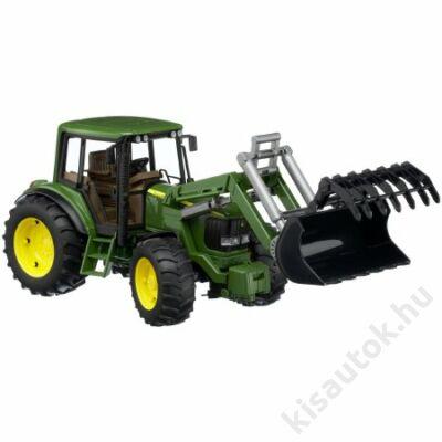 Bruder John Deere 6920 traktor homlokrakodóval