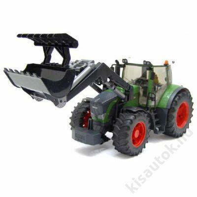 Bruder Fendt 936 Vario traktor homlokrakodóval