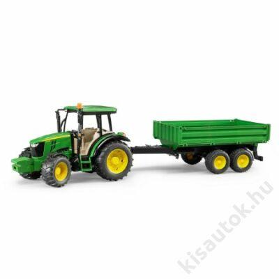Bruder John Deer 5115M traktor utánfutóval