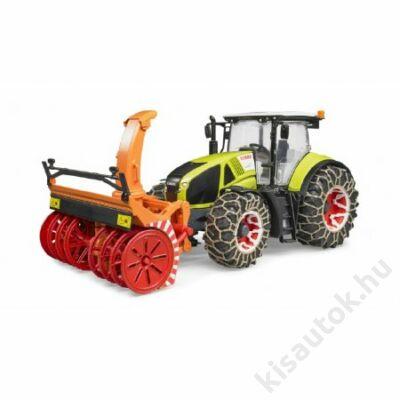 Bruder Claas Axion 950 traktor hólánccal és hóágyuval