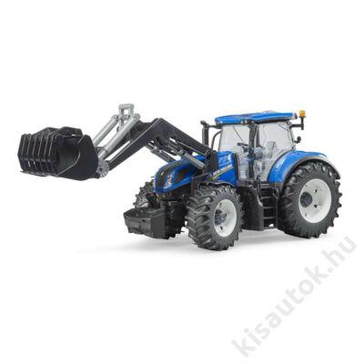 Bruder New Holland T7.315 traktor rakodó kanállal