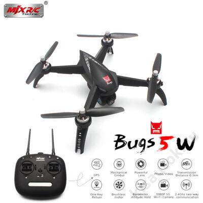MJX Bugs5W brushless GPS drón 16p repülési idő 5G FPV kamera