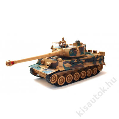 ZEGAN Tiger 1 távirányítós tank infra lövéssel 1/28 terepszínű