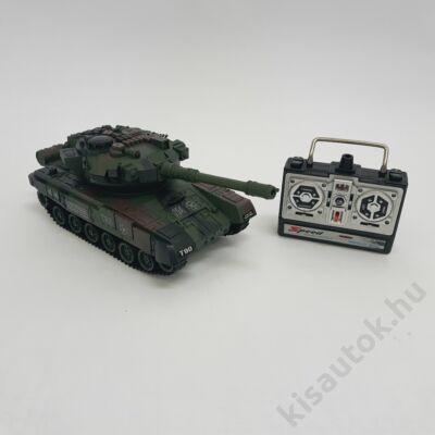 YHToys T90 műanyaglövedékes távirányítós tank 28cm-es olajzöld CSOMAGOLÁS SÉRÜLT, HIBÁTLAN ÁLLAPOT, 3 HÓNAP GARANCIA