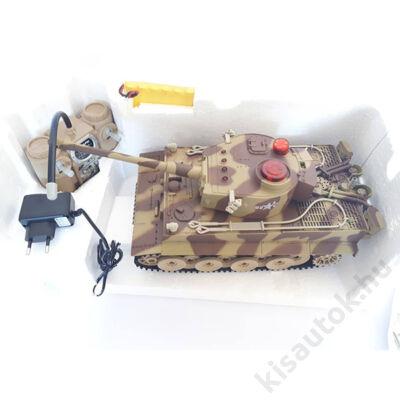 Tiger 1/24 távirányítós német tank - infra lövés World of Tanks stílusban- VÁSÁRLÓTÓL VISSZAVETT- 3 HÓNAP GARANCIA!