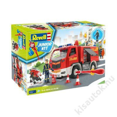 Revell 1:20 Tűzoltóautó tűzoltóval JUNIOR KIT tűzoltó makett