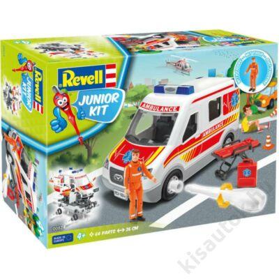 Revell 1:20 Mentőautó mentővel JUNIOR KIT mentőautó makett