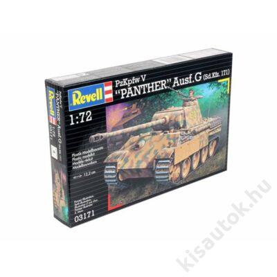 "Revell 1:72 PzKpfw V ""Panther"" Ausf.G (Sd.Kfz. 171) tank makett"
