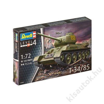 Revell 1:72 T-34/85 tank makett